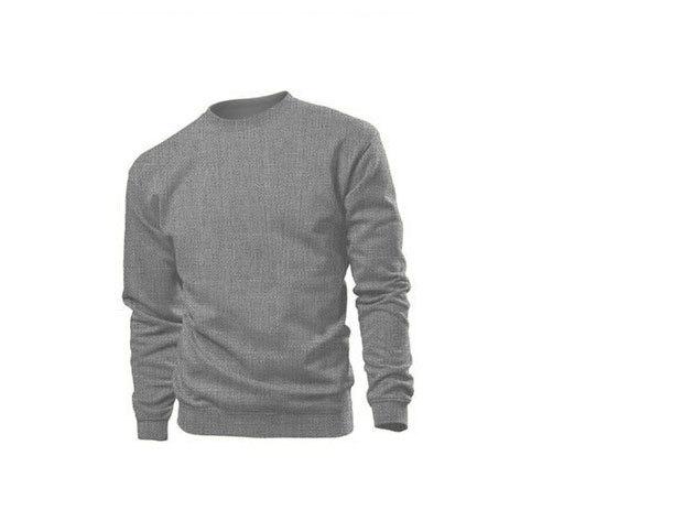 Pamut pulóver (belül bolyhos) - L - SZÜRKE / ST4000.GYH3