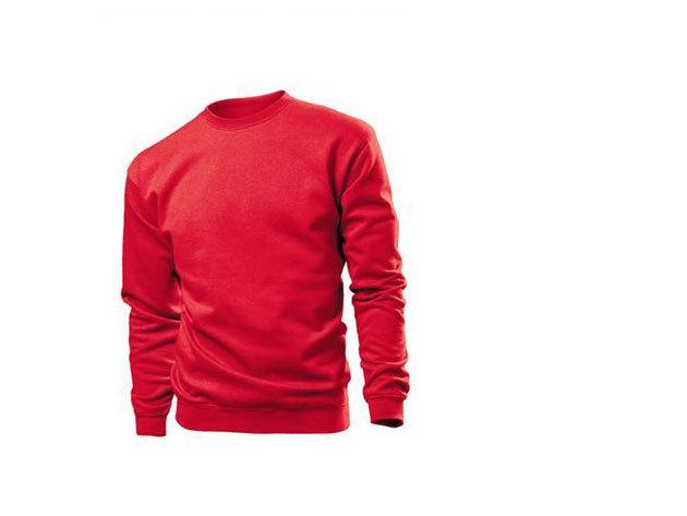 Pamut pulóver (belül bolyhos) - L - PIROS / ST4000.SRE3
