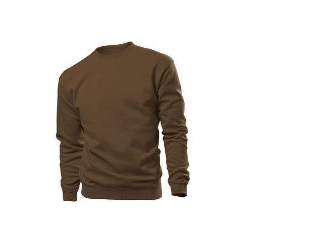 Pamut pulóver (belül bolyhos) - XL - BARNA / ST4000.BRO4