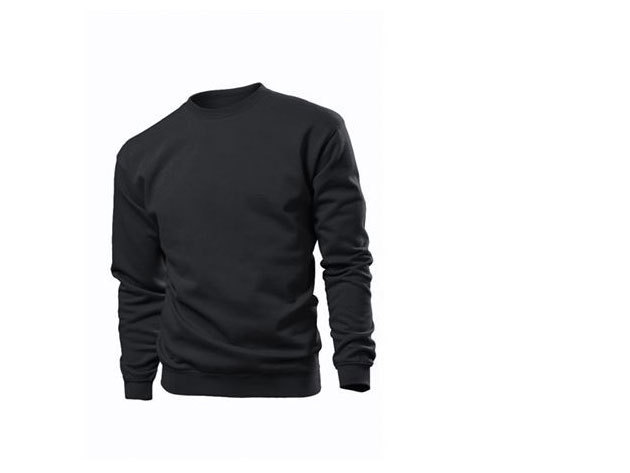 Pamut pulóver (belül bolyhos) - XXL - FEKETE / ST4000.BLO5