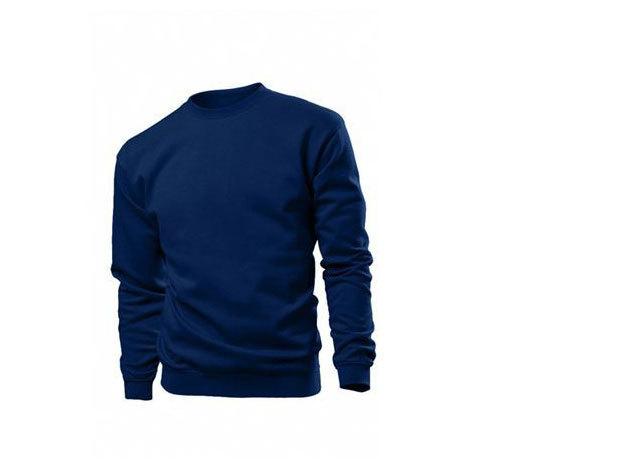 Pamut pulóver (belül bolyhos) - XXXL -  MÉLYKÉK / ST4000.BLM6