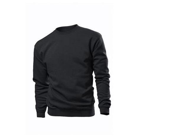 Pamut pulóver (belül bolyhos) - XXXL -  FEKETE / ST4000.BLO6