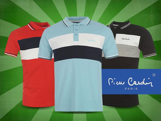 Pierre Cardin férfi galléros póló három divatos színben - 100% pamutból