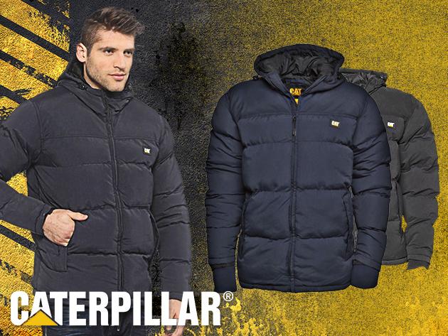 3fb2f3db04 CAT meleg téli kabát férfiaknak - fekete és kék színben, időtlen dizájnnal  (M-XXL)