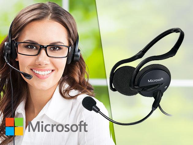 Microsoft LifeChat LX-2000 összecsukható fejhallgató - hangerőszabályozó, mikrofon