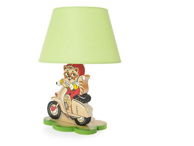 Bartolucci asztali lámpa - motoros cica
