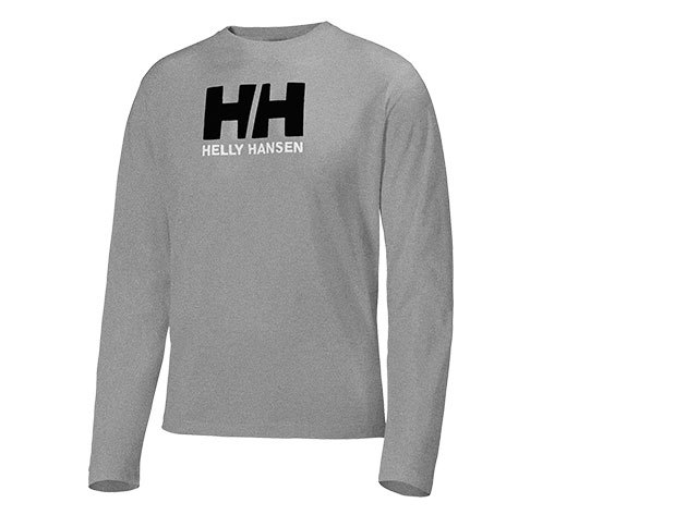 Helly Hansen HH LOGO LS TEE GREY HEATHER S (50588_949-S)
