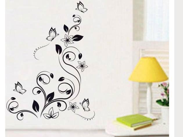 Premium indák pillangókkal falmatrica kb. 150x120 cm - AZONNAL ÁTVEHETŐ