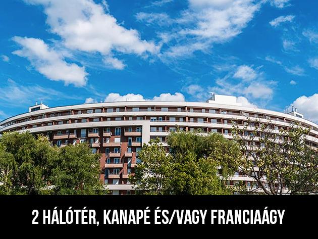3nap/2éj2+2 fős panorámás erkélyes Club218-2 apartmanban (2 hálótér, kanapé és franciaágy)