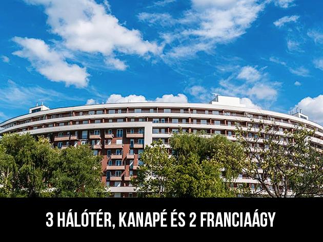 3nap/2éj4+2 fős panorámás erkélyes Club218-3 apartmanban (3 hálótér, kanapé és 2 franciaágy)