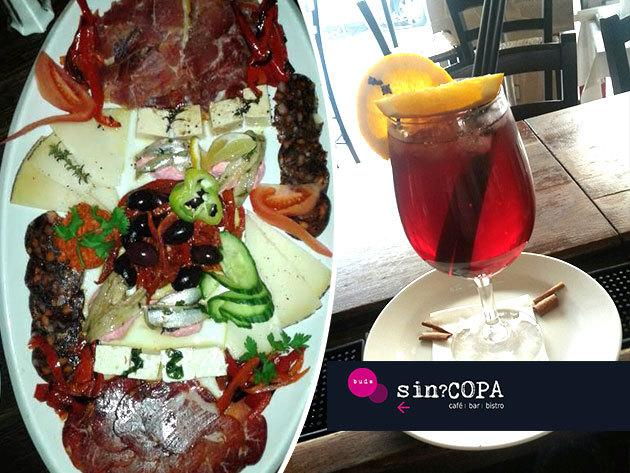 Vár rátok a latin hangulatú sin?COPA étterem 2 vagy 4 személyes Tapas combo tálakkal és sangriával, Buda szívében!
