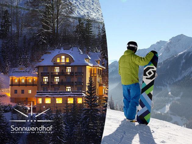 Síelés Semmeringen - Zauberberg! Hotel Sonnwendhof*** - 5 nap/4 éj, 2 fő részére félpanzióval + 6 éves korig ingyenes