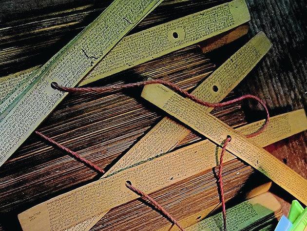 Indiai pálmalevél kutatás és felolvasás