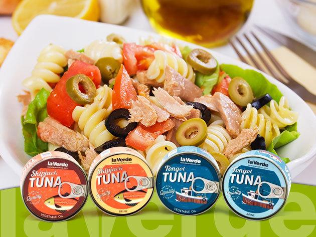 La Verde tonhal törzs konzervek - növényi olajban vagy sós vízben, 170 grammos kiszerelésben
