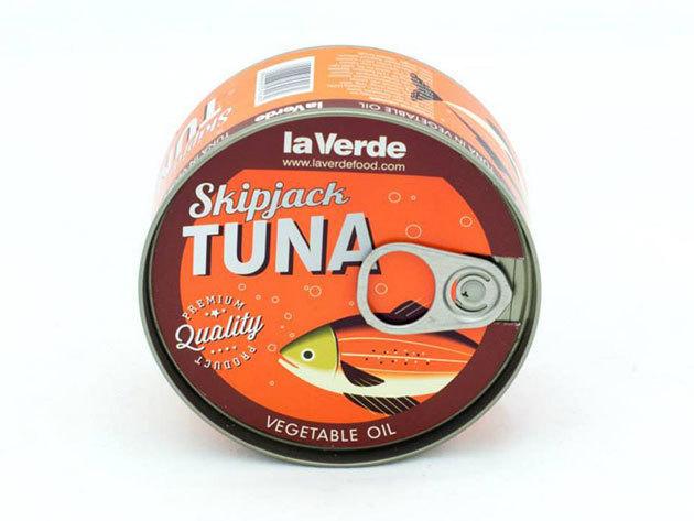 la Verde Skipjack tonhal növényi olajban (Csíkoshasú tonhal törzs)