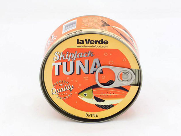 4 db la Verde Skipjack tonhal sós vízben (Csíkoshasú tonhal törzs)