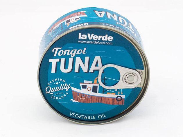 4 db la Verde Thunnus Tonggol tonhal növényi olajban (Hosszúfarkú tonhal törzs)