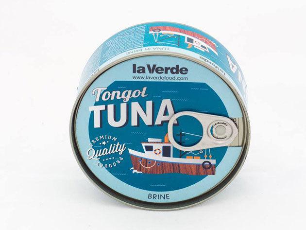 4 db la Verde Thunnus Tonggol tonhal sós vízben (Hosszúfarkú tonhal törzs)