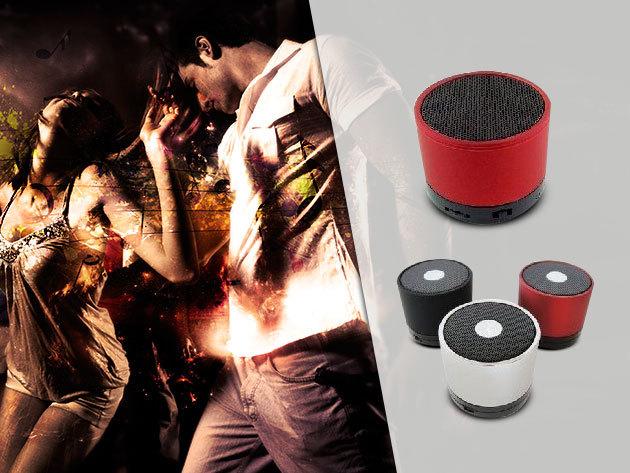 Mini bluetooth-os hangszóró minőségi hangzással - tölthető akkumulátorral, fém házban, USB csatlakozóval ellátva
