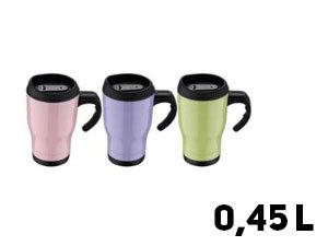 Utazóbögre, 450 ml (BL-1573) - Zöld, rózsaszín vagy lila