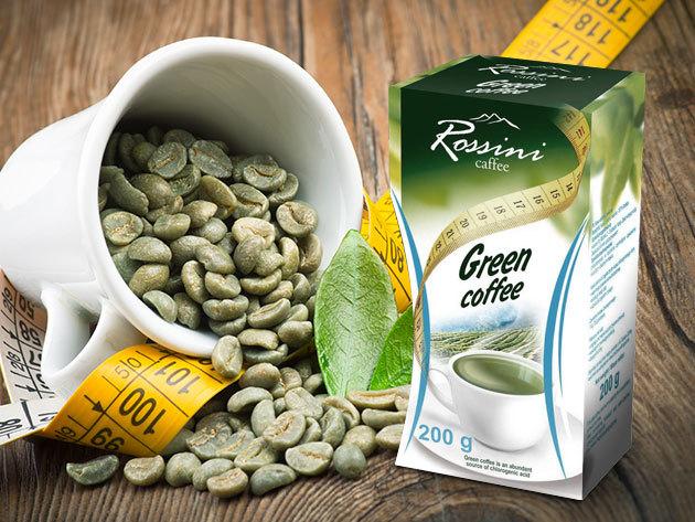 Rossini Green Coffee - 100% arabica őrölt zöld kávé anyagcsere serkentő hatással - 3x200 vagy 6x200 gramm kiszerelésben