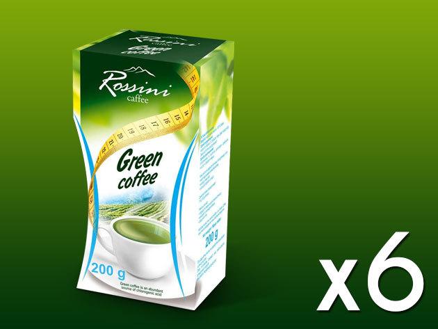 Rossini 100% arabica őrölt zöld kávé - 6x200 gramm