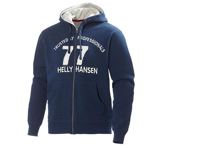 Helly Hansen GRAPHIC F/Z HOODIE  EVENING BLUE MELANGE XL (51710_690-XL)