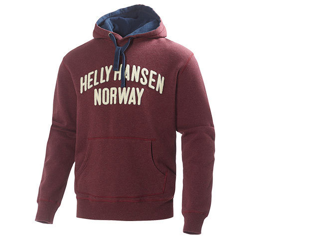 Helly Hansen GRAPHIC HOODIE BORDEAUX MELANGE L (51711_262-L)