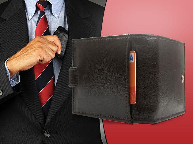 Solier férfi bőr pénztárca - fekete és barna színben, sok rekesszel, a minőség jegyében