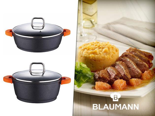 BLAUMANN 'Black Diamond' márvány bevonatú edények - Fekete gyöngyszemek a konyhádban! PRÉMIUM minőség!