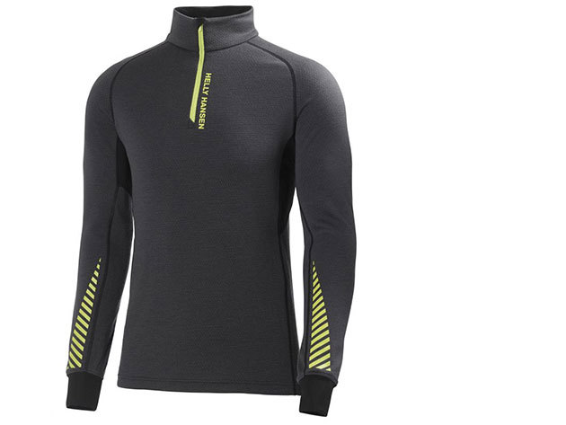 Helly Hansen WARM HIGH NECK 1/2 ZIP EBONY M (48273_980-M)