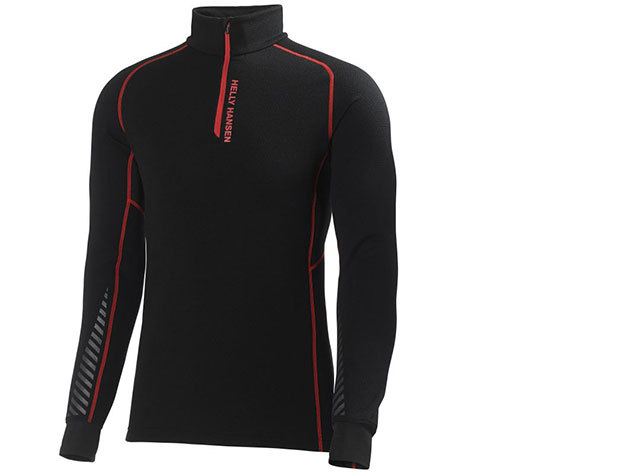 Helly Hansen WARM HIGH NECK 1/2 ZIP BLACK/ALERT RED L (48273_991-L)