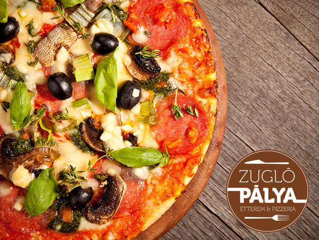 PIZZA + DESSZERT! 2 db 32 cm-es pizza választható feltéttel + desszert ingyenes kiszállítással vagy helyben fogyasztással