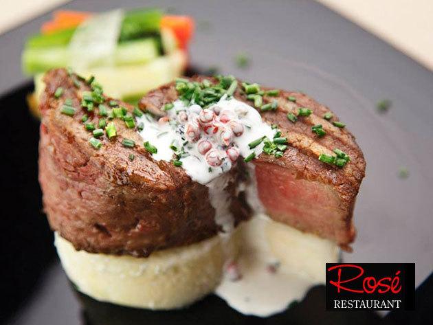 Kulináris gyönyörök a' la carte…Egy jó ebéd, vagy vacsora kettesben a belvárosi Rosé Restaurantban
