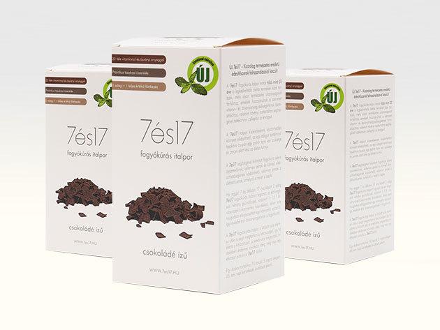 7és17 fogyókúrás italpor - CSOKI ízű, 3-as csomag (3x10 tasak=30 főétkezés)