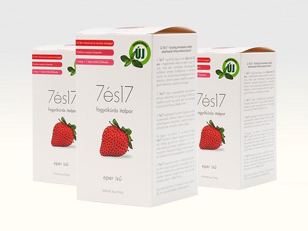 7és17 fogyókúrás italpor - EPER ízű, 3-as csomag (3x10 tasak=30 főétkezés)