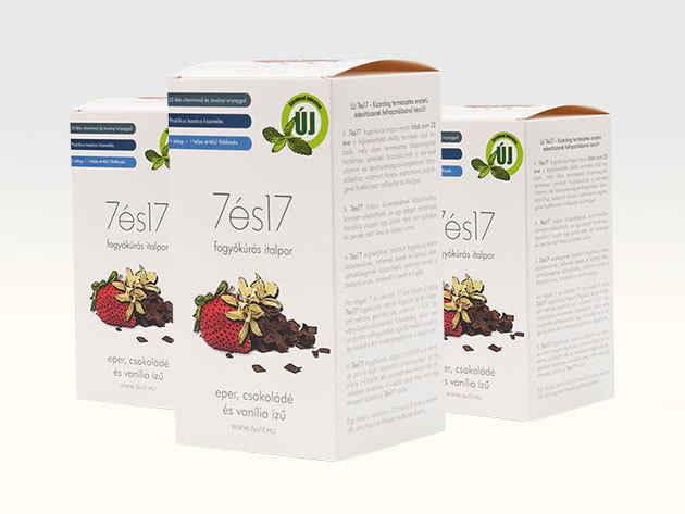 7és17 fogyókúrás italpor MIX, 3-as csomag: VANÍLIA, CSOKI, EPER (3x10 tasak=30 főétkezés)