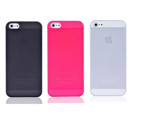 iPhone 5/6 tok - fekete / rózsaszín / átlátszó